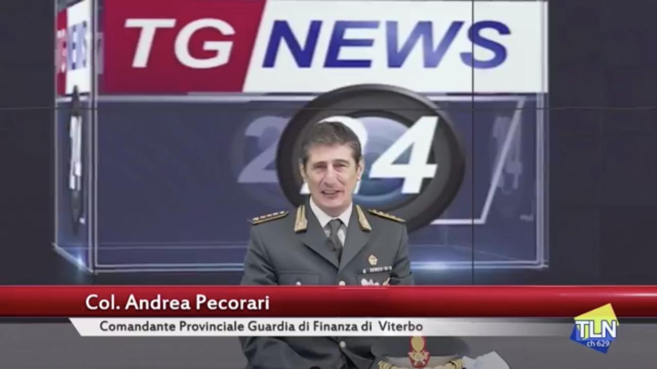 ANDREA PECORARI, COMANDANTE DELLA GUARDIA DI FINANZA DI VITERBO:
