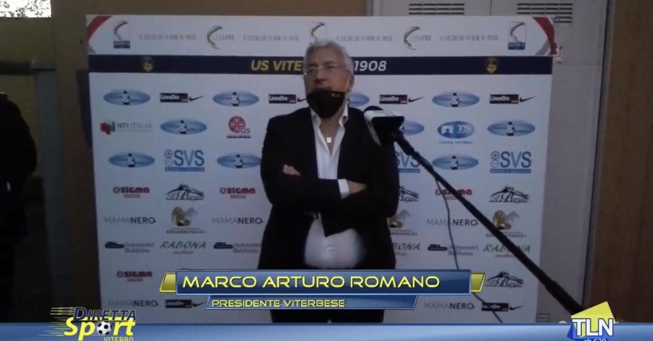 video-IL PRESIDENTE DELLA VITERBESE ROMANO, ESONERA IN DIRETTA L'ALLENATORE AGENORE MAURIZI