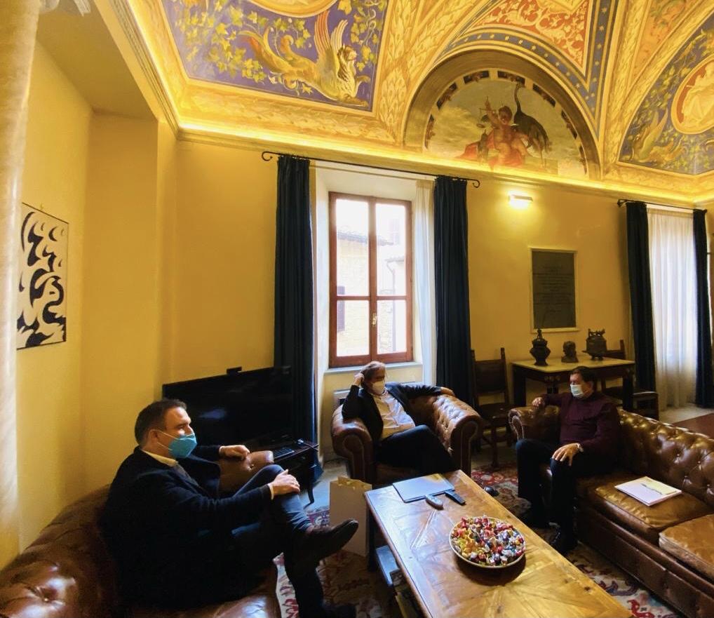 Il NUOVO PRESIDENTE DELL'ARSIAL MARIO CIARLA IN VISITA A TARQUINIA