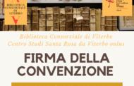 DOMANI ALLE ORE 10 LA FIRMA FRA CENTRO STUDI SANTA ROSA E BIBLIOTECA CONSORZIALE