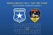OGGI ALLE 14,30 PAGANESE-VITERBESE CON DIRETTA SPORT VITERBO