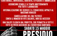 SABATO MATTINA PRESIDIO A DIFESA DELL'OSPEDALE SANT'ANNA DI RONCIGLIONE