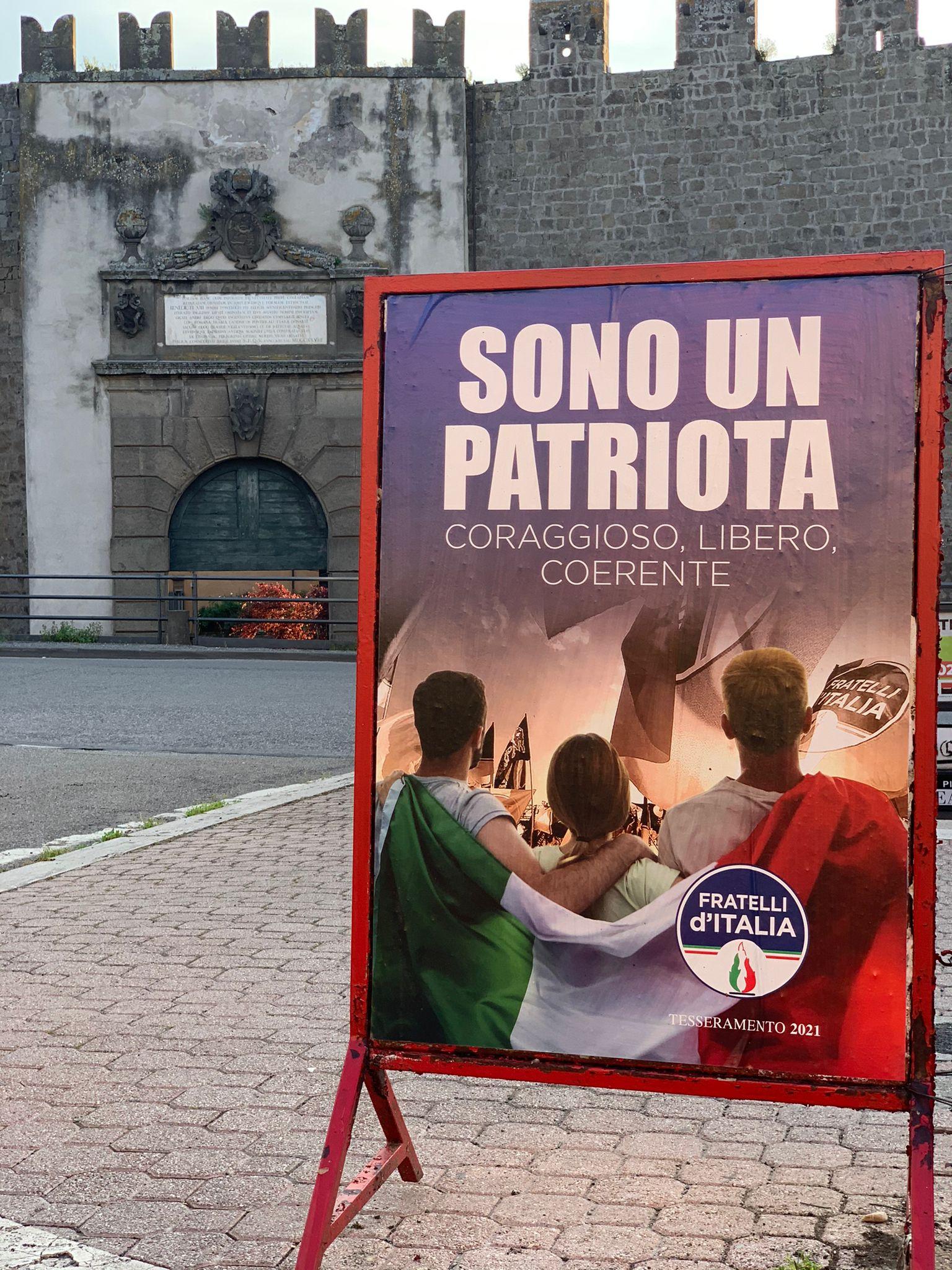 SABATO A VITERBO IL GAZEBO PER IL TESSERAMENTO DI FRATELLI D'ITALIA