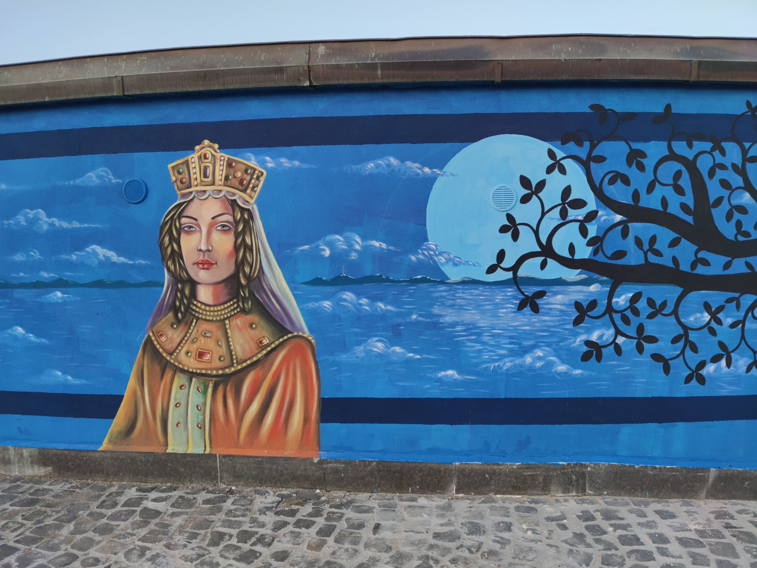 LAZIO STREET ART, TAGLIO DEL NASTRO A MARTA E VALENTANO
