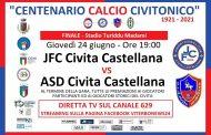 STASERA ORE 19 IN DIRETTA SU TLN LA FINALE DEL TORNEO DEL CENTENARIO DI CIVITA CASTELLANA.